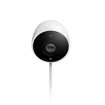Google nest cam caméra de sécurité intelligente extérieure, pack blanc de 1