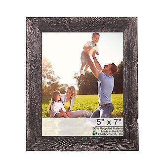 """9""""x10"""" Rustic Smoky Black Grey Picture Frame"""