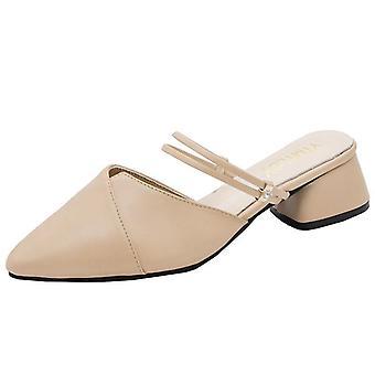 Señoras Roma Fondo Plano Con Sandalias Boca de Pescado Zapatos Casual