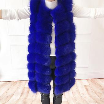 Manteau de fourrure de renard naturel, veste de gilet vrai, femme et manteau assez chaud