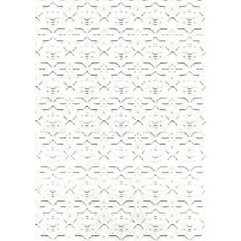 Dolls House Embossed Dado Paper Wall Or Ceiling Miniature Print Wallpaper 1:12