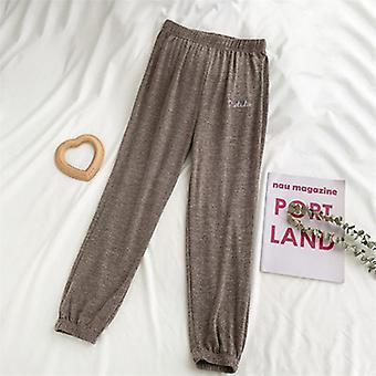Spring Sleep Bottom, Women Cotton Long Pant, Home Pajamas, Soft Slip Summer