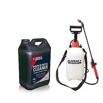 Path & Patio Cleaner 5L Concentrate With 5L Sprayer By Spear & Jackson