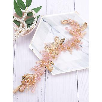 Vid de pelo nupcial de hoja de oro, accesorios para el cabello (oro)