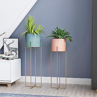 Nordic Wrought Iron Flower Stand Single Indoor Living Room Floor Modern