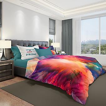 Cama de algodão multicolorida completa do sonho, L150xP280 cm, L90xP195 cm, L52xP82 cm