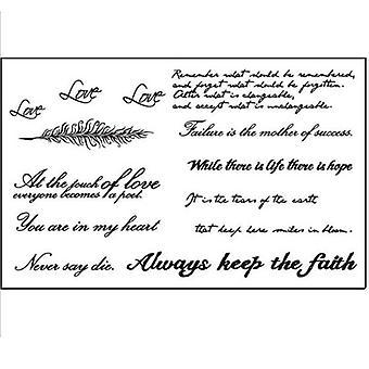 English Words Tattoo Sticker, Women, Men, Couple Body Art, Temporary Fake