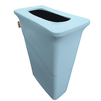 La Linen Stretch Spandex Trash Can Cover For Slim Jim 23-Gallon, Light Blue