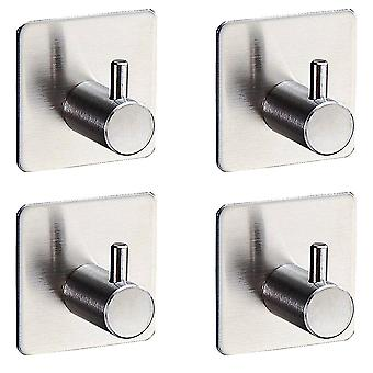 4 PC Square Hook Sticky acier inoxydable