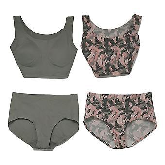 Rhonda Cisaille un soutien-gorge de corps invisible 2-pack avec culottes grises 725693