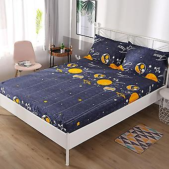 Waterproof Printing Fitted Bed Sheet - Soft Comfortable Bed Mattress Protective