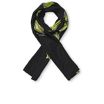 Masai Clothing Along Black & Green Print Scarf