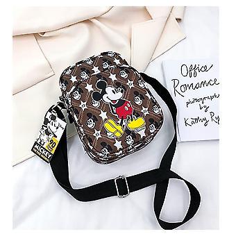 Mickey Mouse Shoulder Bag, Women Messenger Phone Chest Purse