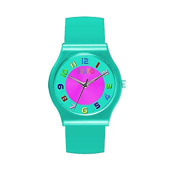 Crayo Jubilee Teal Dial Teal Leatherette Watch CRACR4605