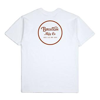 Brixton Wheeler II T-Shirt White Bronze