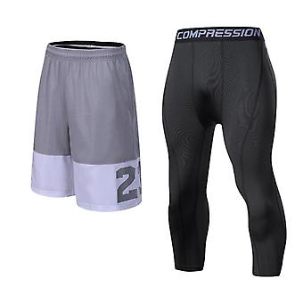 Men Running Compression Sportswear Set, Basketball Jersey