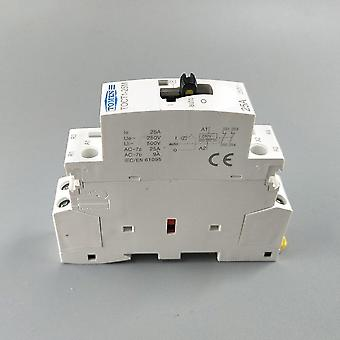 2p 25a 220v/230v 50/60hz Din Rail Household Modular Contactor With Manual