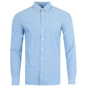 Farah Drayton Modern Fit Oxford Shirt - Regatta Blue