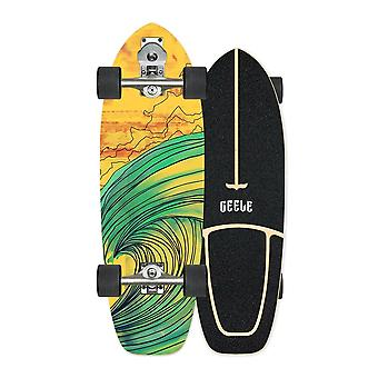 Professionele S7 Carver Surf Land Skateboard Highly Smooth Maple Cruiser Skate