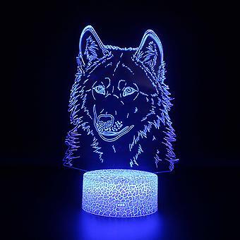 3D Optyczne Illusion Lampy 7 Kolory Touch Change Switch Night Light Art Deco Make Romantyczna atmosfera w sypialni Pokój dziecięcy Salon-Animal # 479