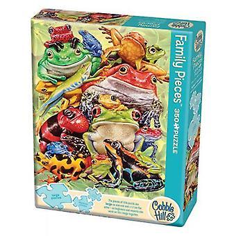 Cobble hill puzzle - frog pile - 350 pc