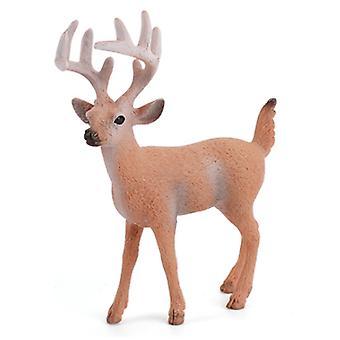 محاكاة الغزلان السنجاب الأحمر الثعلب نموذج الحيوان تعيين مصغرة الغابات تمثال الحيوان هدية هدية لعبة