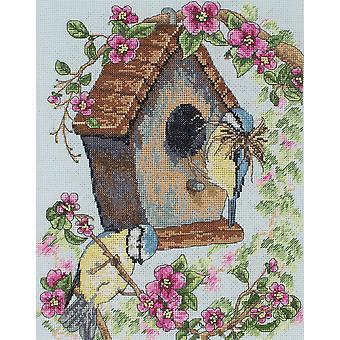 Kit de punto de cruz ancla: La casa de pájaros