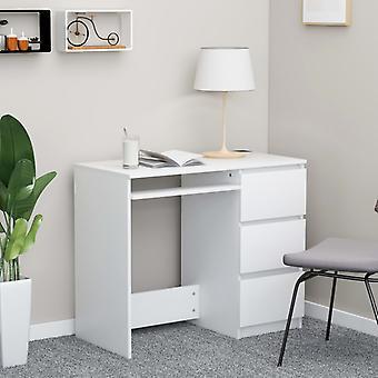 vidaXL bureau blanc 90 x 45 x 76 cm panneau de particules