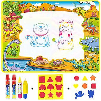 """ילדים שרבוט מחצלת לוח עם עט ציור מים,110 * 80 ס""""מ"""