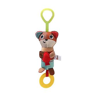Bear Rattling Doll Cute Baby Hanging Toys With Chime Sound Paper Teether For Children Soft Plush Rattle Toys