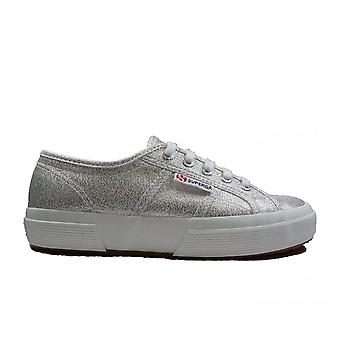 Superga Lamew Grey Silver Jersey Womens Lace Up Casual Shoes