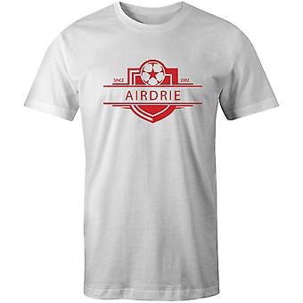Airdrieonians 2002 etableret badge børn fodbold t-shirt