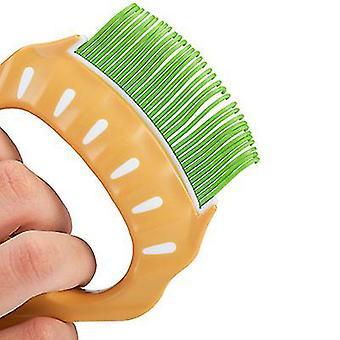 Green pet comb to remove floating hair,pet fair elastic nylon brush az3186