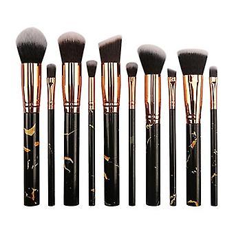 10pcs Marbling Makeup Brushes Set Foundation Brushes Professional Eyeshadow| Applicateur d'ombres à paupières