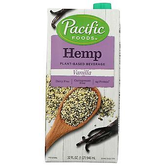 Pacific Foods Hemp Milk Vanilla, Case of 12 X 32 Oz