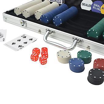 vidaXL Poker Set 500 chips alumiinilla