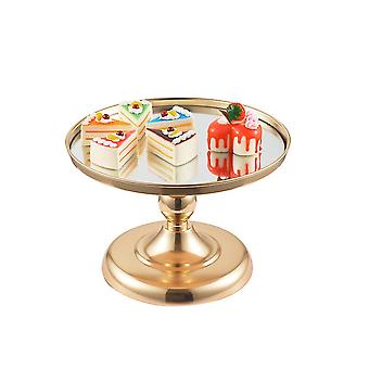 Golden 31x31x21cm round cake stands, metal dessert cupcake pastry candy display for wedding, event, birthday party homi4321