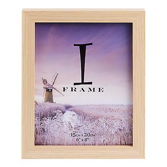 """6"""" x 8"""" - iFrame Wood Finish Photo Frame"""