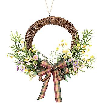Front Door Spring Wreath, Sunflower Antler Leaf Half Wreath, Wedding Party Wall