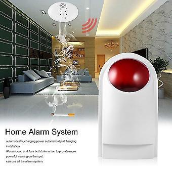 Waterdichte draadloze stroboscoop sirene met back-up batterij voor home alarmsysteem