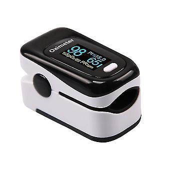 Portable Finger Oximeters Fingertip oximeter Heart Rate Saturometer(White)