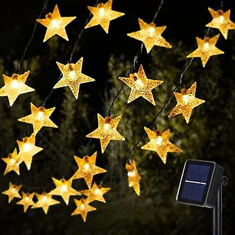 Aurinkotähti String Lights Aurinkovoimalla tuikkiva kevyt joulu sisustus