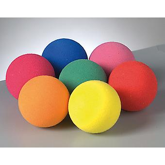 7 Pack Assorted 2.5cm Firm Foam Balls for Craft Projects | Foam Craft Shapes