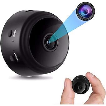 Mini 1080P كاميرا تجسس خفية، عن بعد الكشف عن الحركة المغناطيسية اللاسلكية واي فاي كاميرا الرؤية الليلية للمراقبة في الوقت الحقيقي (أسود)