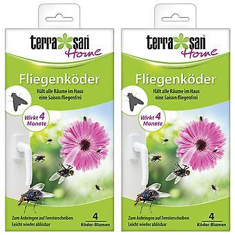 Sparset: 2 x TERRASAN HOME fly bait flower, 4 pieces