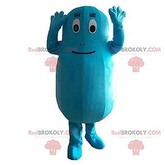 Талисман REDBROKOLY.COM Барбибула, синий персонаж из мультфильма Барбапапа