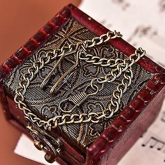 Chaîne antique de montre de poche en alliage de bronze de quartz vintage