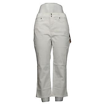 NYDJ Women's Women's Skinny Crop Jeans w / Side Slits Blanc A377695