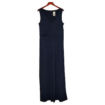 G av Giuliana Kvinners Jumpsuits Reg Strikket Solid Blue 649943
