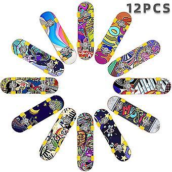 12 PCS Fingerboards Professionel Mini Finger Skateboard Finger Sports Training Rekvisitter